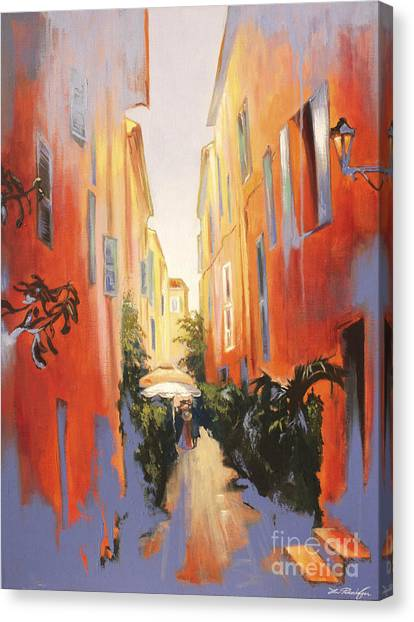 In Town Of Saint Tropez Canvas Print