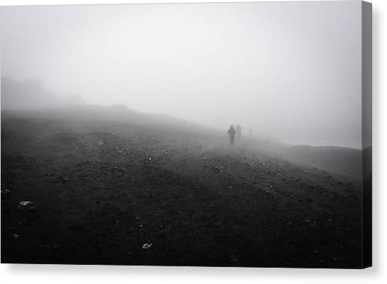Eyjafjallajokull Canvas Print - In Wind And Cloud by Alex Blondeau