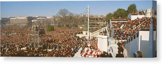 Bill Clinton Canvas Print - Inauguration Of President William by Panoramic Images