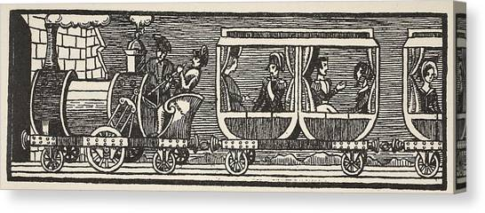 Train Canvas Print - Inauguration Of The Railway by French School