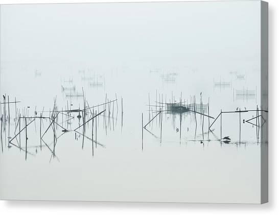 Marshes Canvas Print - Inba by Kouji Tomihisa