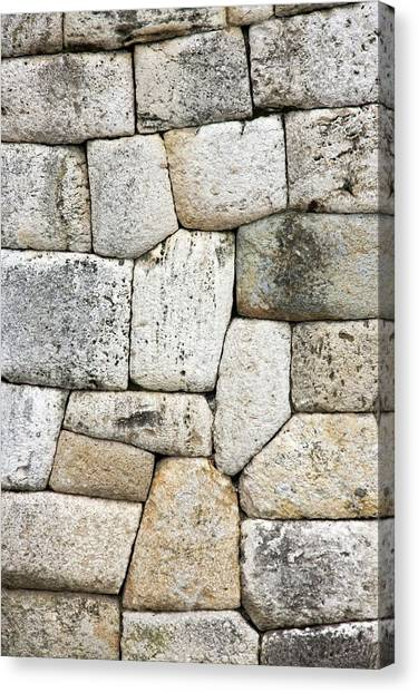 Drywall Canvas Print - Inca Wall by Steve Allen/science Photo Library