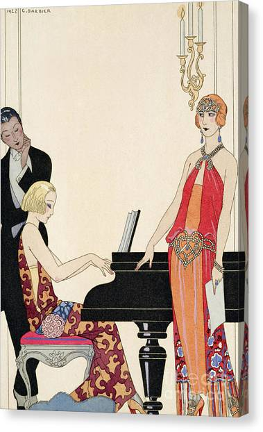 Stringed Instruments Canvas Print - Incantation by Georges Barbier