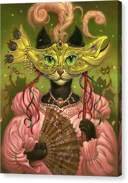 Party Canvas Print - Incatneato by Jeff Haynie