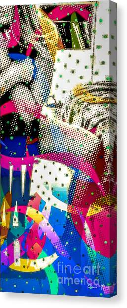 Canvas Print featuring the digital art Incognito by Eleni Mac Synodinos