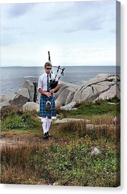 Bagpipes Canvas Print - Incognito by Kristin Elmquist