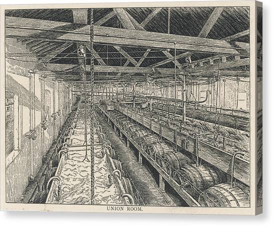 Ind Coope Brewery, Burton Canvas Print by Mary Evans Picture Library