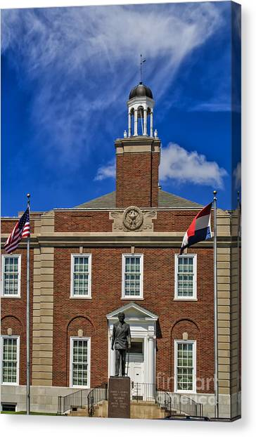 Harry Truman Canvas Print - Independence Courthouse by Carolyn Fox