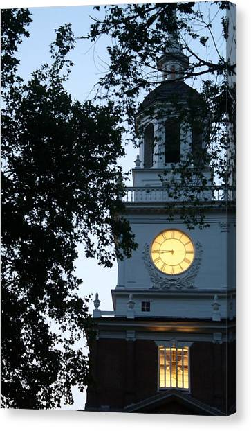 Independence Hall At Dusk Canvas Print