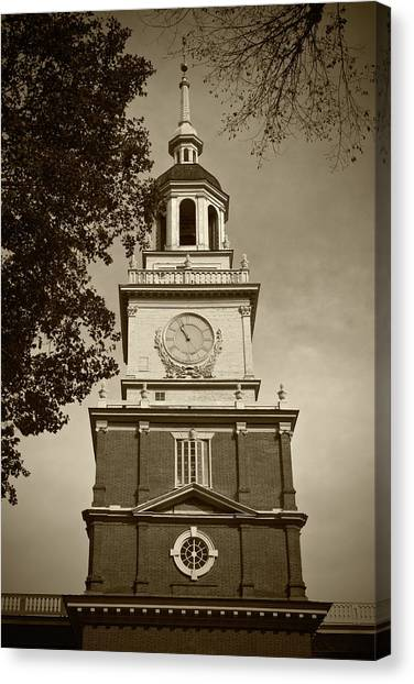 Independence Hall - Bw Canvas Print