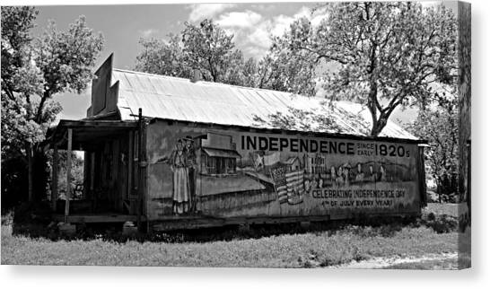 Texas State University Texas State Canvas Print - Independence by Stephen Stookey