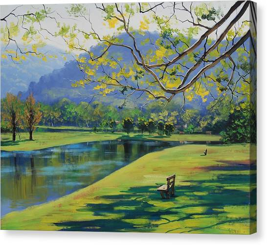 Brook Canvas Print - Inder The Shade by Graham Gercken