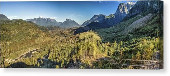 Index Mountains Panorama Canvas Print