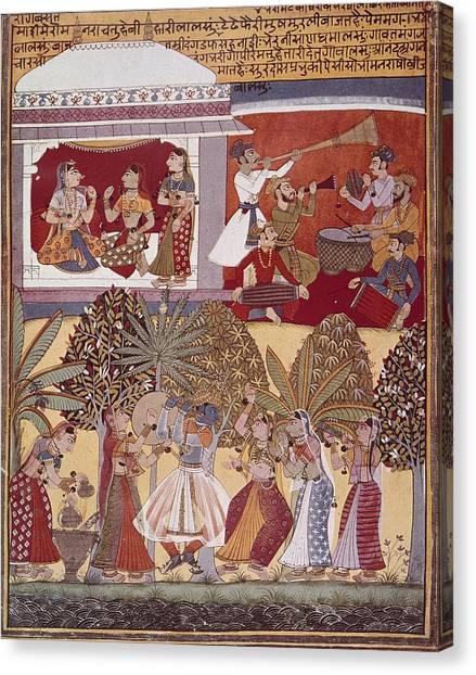 Fine Art India Canvas Print - India. Calcutta. Krishnas Dance by Everett