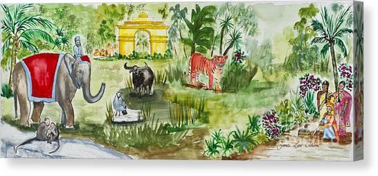 India Friends Canvas Print