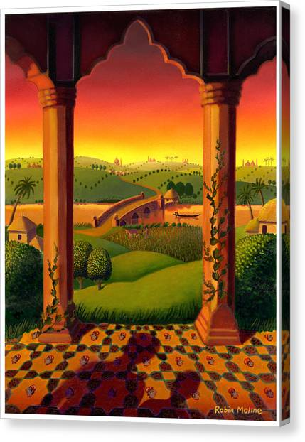 India Landscape Canvas Print