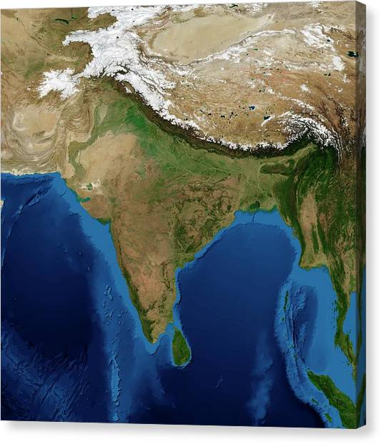 Projection Canvas Print - India by Nasa