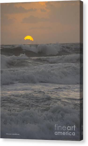 Indialantic Sunrise Canvas Print