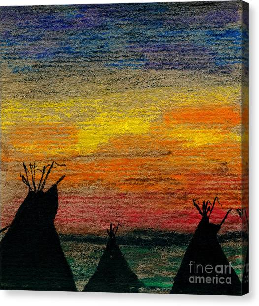 Indian Camp Canvas Print