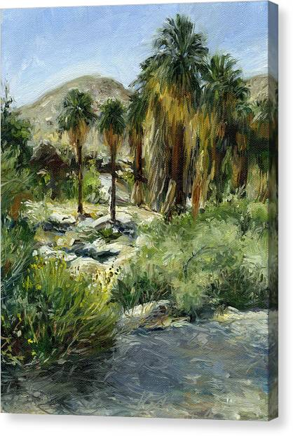 Indian Canyon Palms Canvas Print by Stacy Vosberg
