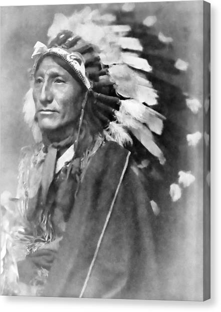 Indian Canvas Print - Indian Chief - 1902 by Daniel Hagerman