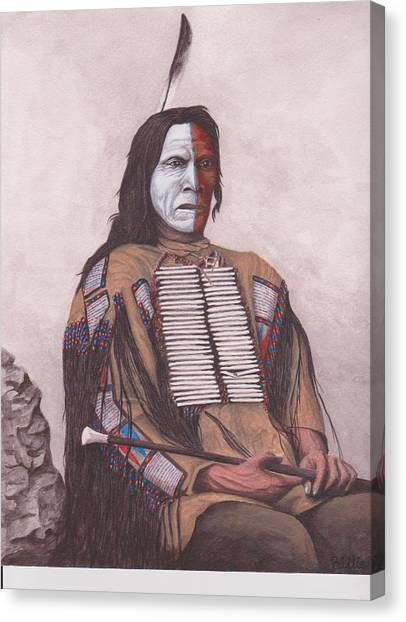 Indian Chief Red Cloud Canvas Print by Billie Bowles