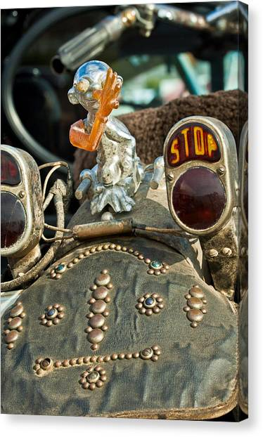 Choppers Canvas Print - Indian Chopper Taillight by Jill Reger