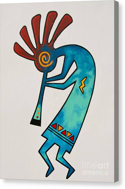 Canvas Print featuring the photograph Indian Dance Two by Mae Wertz