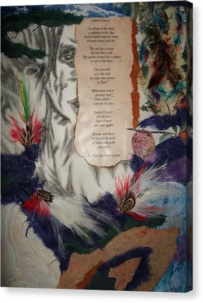 Indian Dancer Canvas Print