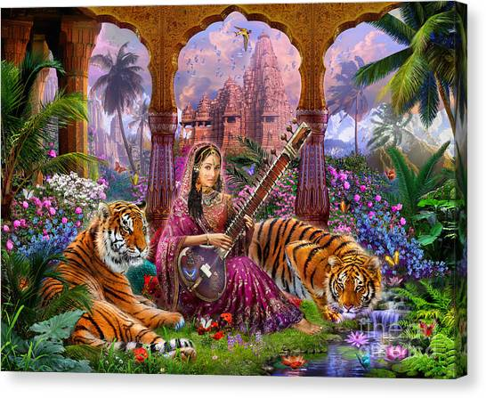 Indians Canvas Print - Indian Harmony by Jan Patrik Krasny