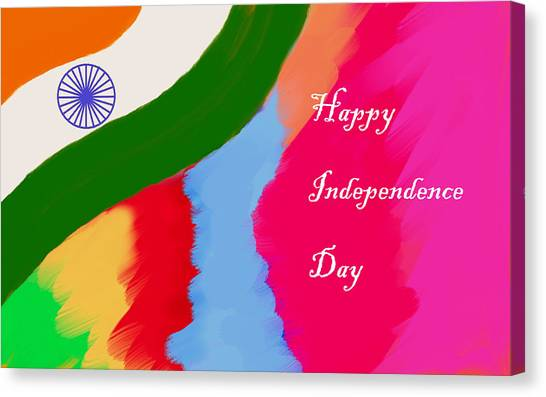 Indian Independence Day Canvas Print