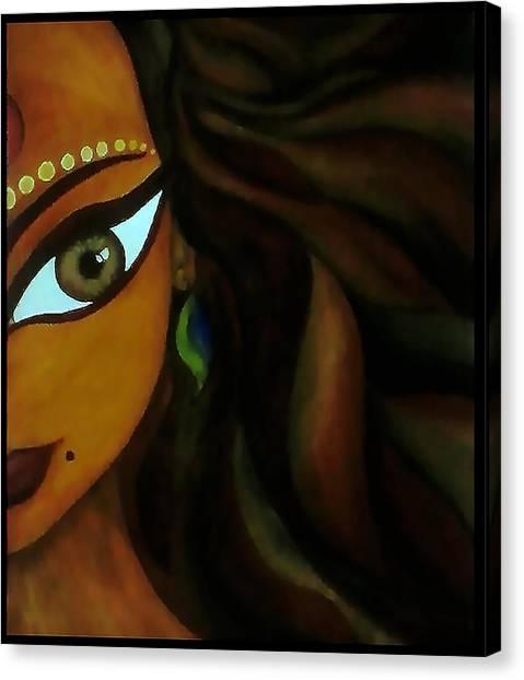 Indian Lady  Canvas Print by Sivaanan Balachandran