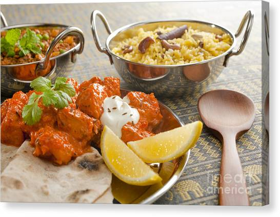 Selection Canvas Print - Indian Meal  by Colin and Linda McKie