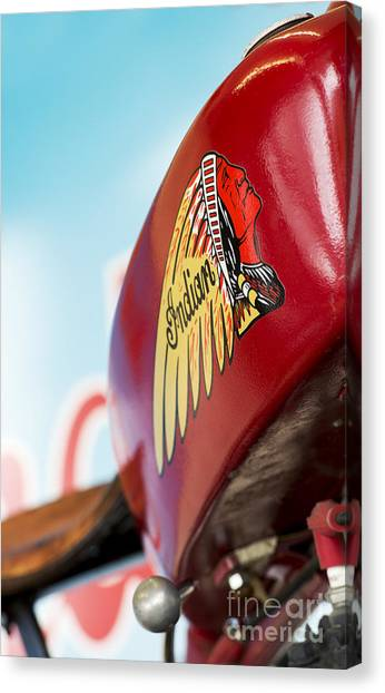 Scouting Canvas Print - Indian Motorcycle Abstract by Tim Gainey