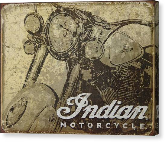 Indian Motorcycle Poster Canvas Print