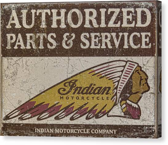 Indian Motorcycle Sign Canvas Print