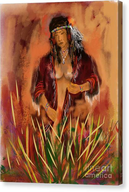 Indian Nude Canvas Print