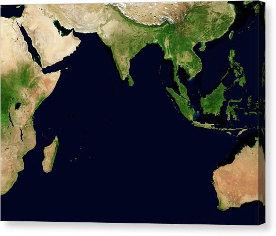 Himalayas Canvas Print - Indian Ocean by Nasa/science Photo Library