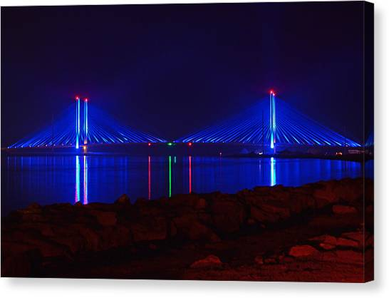 Indian River Inlet Bridge After Dark Canvas Print