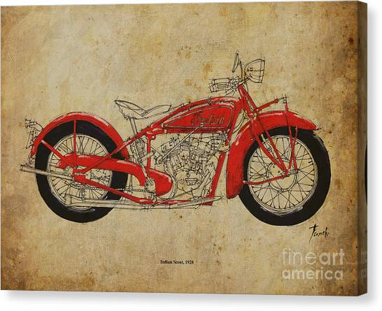 Indian Scout 1928 Canvas Print by Pablo Franchi