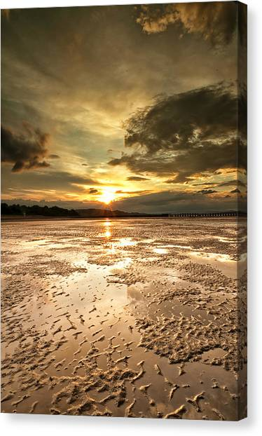 Indian Sunset Canvas Print