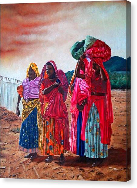 Indian Women Canvas Print