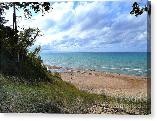 Indiana Dunes Beachscape Canvas Print