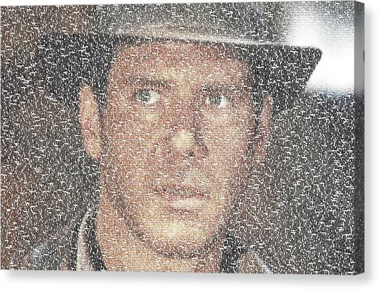 Raiders Of The Lost Ark Canvas Print - Indiana Jones Quotes Mosaic by Paul Van Scott