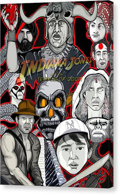 Indiana Jones Temple Of Doom Canvas Print by Gary Niles