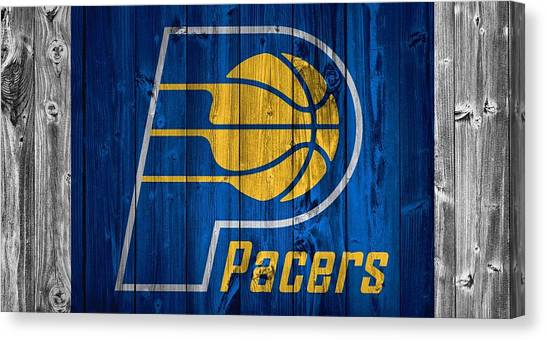 Indiana Pacers Canvas Print - Indiana Pacers Barn Door by Dan Sproul