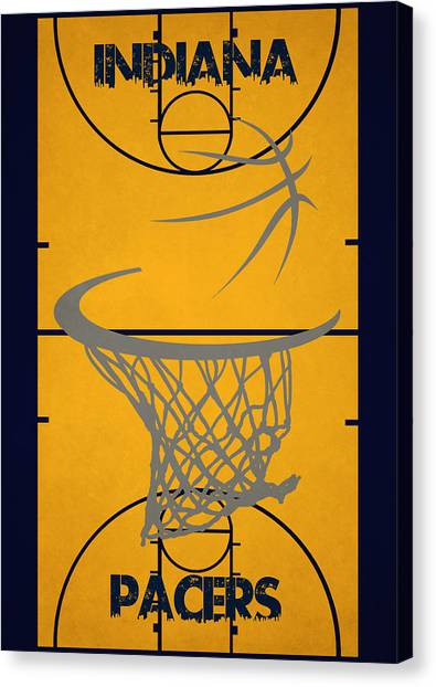 Indiana Pacers Canvas Print - Indiana Pacers Court by Joe Hamilton