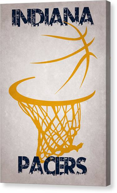Indiana Pacers Canvas Print - Indiana Pacers Hoop by Joe Hamilton