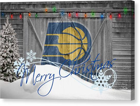 Indiana Pacers Canvas Print - Indiana Pacers by Joe Hamilton