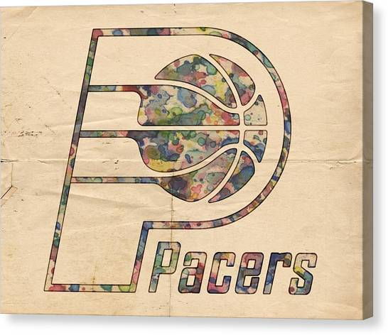 Indiana Pacers Canvas Print - Indiana Pacers Poster Art by Florian Rodarte